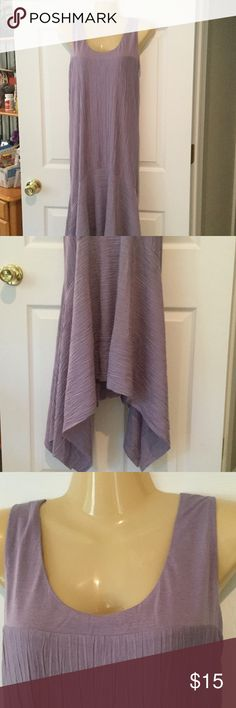 Marla Wynnewood lavender sleeveless dress Polyester rayon blend dress with asymmetric hem. Dress has built in slip ensures it is not see thu. Light weight and flowing look. Brand new with tags and never worn. Marla Wynne Dresses Asymmetrical