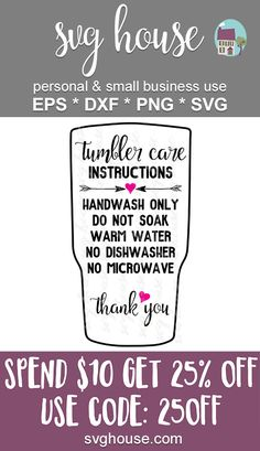 Tumbler Care Instructions Svg in 4 formats - SVG, EPS, PNG & DXF. Care Instructions SVG Cut Files for Silhouette and Cricut cutting machines. Vinyl Tumblers, Custom Tumblers, Custom Cups, Glitter Cups, Tumbler Designs, Circuit Projects, Cup Design, Cricut Creations, Tumbler Cups