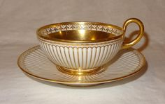 Superb 19th Century Empire Sevres Service Godronnee French Etruscan Cup Saucer | eBay