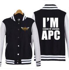 I am League of Legends APC sweatshirt game LOL baseball jackets plus size