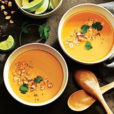 Thai Butternut Squash Soup by cookinglight: Warm, spicy and light. #Soup #Butternut_Squash #Thai #Light