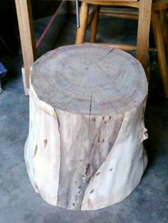 Log Stump Table Wood Table Night Stand End by DeerwoodCreekGifts, $200.00