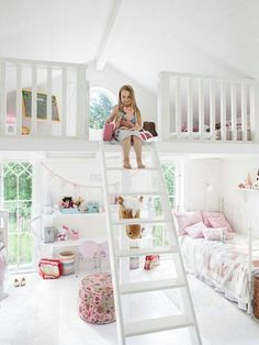 "Always loved the split level idea thought a bed up top would work best till now,  keeping  the toys ""out of sight"" even better!"