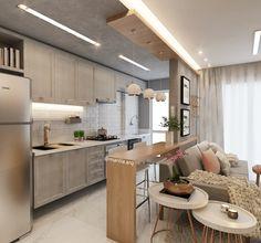 Sala Integrada | Um apartamento pequeno mas com um Décor Jovem e moderninho! Atendendo a pedidos, mais ângulos desse projeto lindo!!