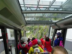 Down the mounthain in a cable train :-) in Bergen