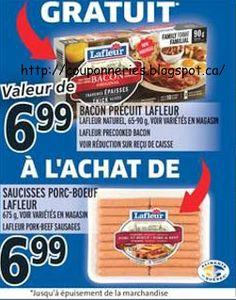 Coupons et Circulaires: 6,99$ LAFLEUR saucisses 675g + Précuit LAFLEUR 90g...