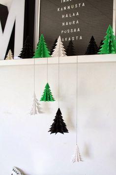 DIY / christmas tree origami