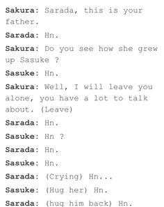 like father like daughter? :D   We Heart It #naruto #funny #sasuke