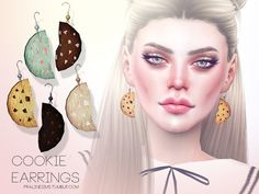 Sims 4 CC's - The Best: Cookie Earrings by Pralinesims