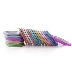 12 Colors Skinny Glitter Paper Washi Tape Set Of 24 Agu