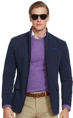 $179, Cotton Twill Sport Coat by Polo Ralph Lauren. Sold by Ralph Lauren. Click for more info: http://lookastic.com/men/shop_items/95668/redirect