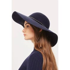 406ea2e1fd8 Topshop Straight Brim Double Trim Fedora (535.875 IDR) ❤ liked on Polyvore  featuring accessories. Topshop HatsFedora HatBrim ...