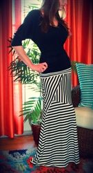 Home > Bottoms >       Earn Your Stripes Maxi Skirt