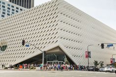 Beautiful Exterior of the Broad Museum. Article about the importance of museum guards being knowledgeable about the work.