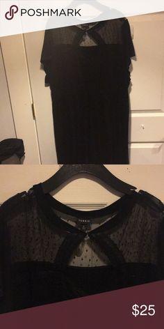 Black lace dress Torrid black dress with lace top torrid Dresses Midi