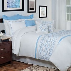 Lavish Home 13Piece Isabella Embroidered Comforter Set Queen ** Be sure to check out this awesome product.