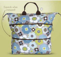Expandable tote. Great therapy bag. It can be big or small. Good for large toys and travel.