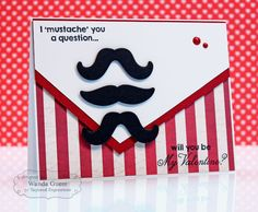 January SOTM A Question.... card by Wanda Guess #Cardmaking, #StampoftheMonth, #ValentinesLove, http://tayloredexpressions.com/kits.html