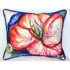 Hibiscus Indoor/Outdoor Lumbar Pillow