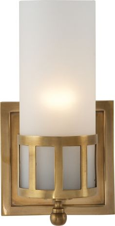 OPENWORK SINGLE WALL SCONCE Option for Master Bathroom, in this color or chrome.