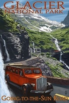 Glacier National Park, Montana... before the Red Jammers were restored by FORD we use to jump them to ride across the GTTSR to the different Park Hotels. Great memories of great summers working at Waterton Lakes and Glacier.