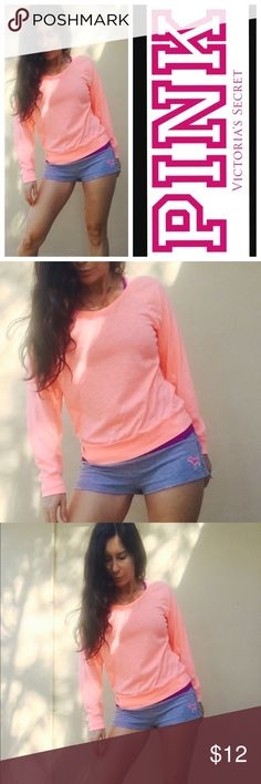 Small top lightweight cotton Peach color PINK Victoria's Secret Tops Tees - Long Sleeve