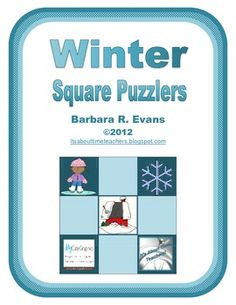 Excellent for exercising your students' problem solving skills. 3 levels of difficulty.  Perfect for fast finishers.  $  #problemsolving #criticalthinking #gifted #enrichment #winter #fastfinishers #BarbEvans #itsabouttimeteachers