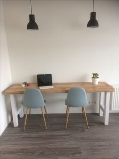 Bureau/tafel steigerhouten blad