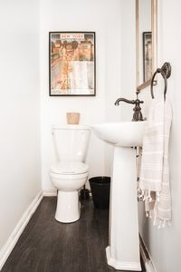Small powder room off the dining room