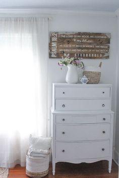 Summer Farmhouse Bedroom White Chalk Paint Dresser