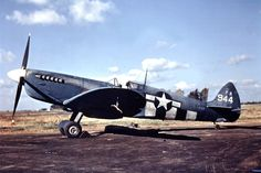 Spitfire PR.XI PA944 of the 22nd Photographic Reconnaissance Squadron, 7th Photographic Reconnaissance Group, flown out of Mount Farm in 1944.