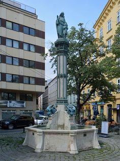 Schutzengelbrunnen Rilkeplatz DSC 0437w - Eduard van der Nüll – Wikipedia San Francisco Ferry, Around The Worlds, Van, Building, Travel, Viajes, Buildings, Destinations, Traveling