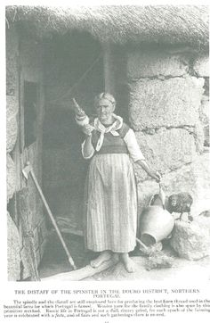 Traditional Portuguese Spindle: National Geographic August 1919 - Weavers of the World