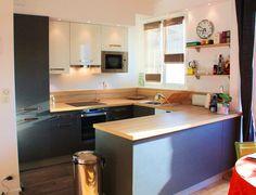 cuisines deco cuisine noir laque cuisine grise et bois cuisine en u
