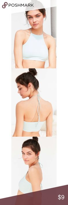 Out From Under Cute Cotton Striped Halter Top Out From Under Cute Cotton Striped Halter Top! Soft & stretchy with wide banded back and cinched halter  tie neck! Perfect for pairing with everything's high waisted! Urban Outfitters Tops Crop Tops