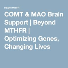 COMT & MAO Brain Support | Beyond MTHFR | Optimizing Genes, Changing Lives