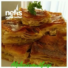 Pırasalı Arnavut Böreği Spanakopita, Lasagna, Cabbage, Sandwiches, Food And Drink, Homemade, Vegetables, Ethnic Recipes, Desserts