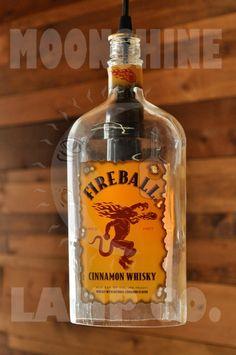 Fireball Cinnamon Whiskey Pendant Lamp by MoonshineLamp on Etsy