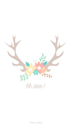 Deer vector illustration  ©Marion Blanc