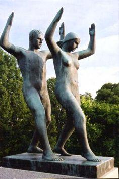 Sculpture in Vigelands Park, Oslo, Norway