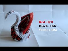 Origami 3D swan - How to make 3D origami swan - YouTube