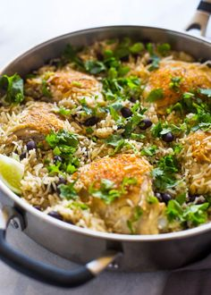 Healthy, quick and flavorful Cilantro lime chicken, rice and beans cooked in one pan.  If you're a fan of Mexican food, you're going to fall in love with this one pan cilantro chicken a…