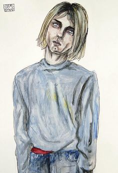 Kurt Cobain. Drawn by Lucas David