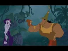 Kronk with the Squirrel - The Emperors New Groove. my favorite part in the whole movie