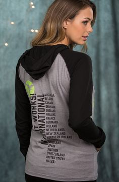 UNISEXY CONCERT HOOD-TEE BACK- Where in the world can you find It Works!? Wear and share with pride all the places It Works! is changing lives in true concert tee style in this comfy hooded tee. With an attention-grabbing black and green It Works! logo on the front and featuring all It Works! countries on the back, you'll always be ready to share how we're changing lives all around the world.