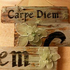 Carpe Diem, Bamboo Cutting Board, Workshop, Signs, Home Decor, Creative, Atelier, Decoration Home, Room Decor