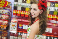 Photo by Cat Tetreault Photography MUAH : Lexi Whitewall Shot at Stickys Candy Downtown Chilliwack retro hair Retro makeup pinupgirl candyshop Retro Makeup, Retro Hairstyles, Candy Store, Pin Up Girls, Hair Makeup, Cat, Photography, Fashion, Fotografia