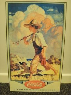 """Vintage Coca~Cola ad.....  This one is from an artwork by N. C. Wyeth, entitled """"It's The Refreshing Thing To Do"""", dated 1937"""