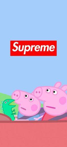 Supreme Wallpaper Peppa Pig 1125 × 2436 Peppa Pig is a English preschool cartoon television