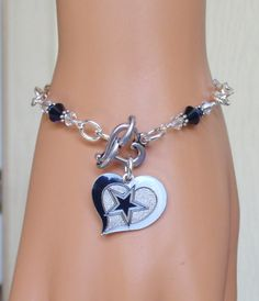 Dallas Cowboy Inspired I Want to Be Your Cowgirl Charm Bracelet